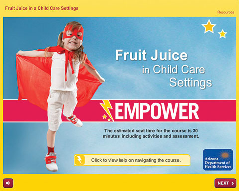 Empower Training: Fruit Juice in Child Care Settings