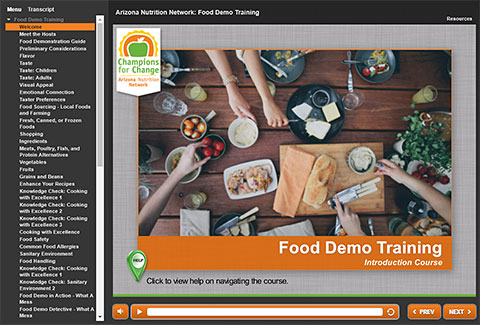 Food Demo Training Course