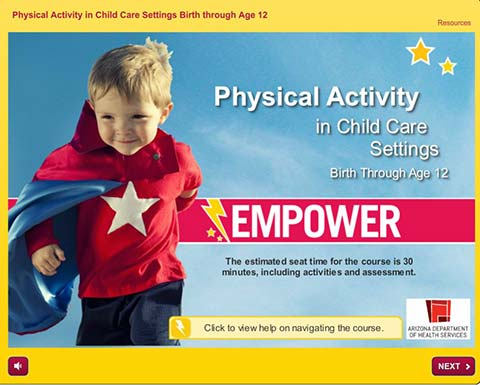 Physical Activity in Child Care Settings
