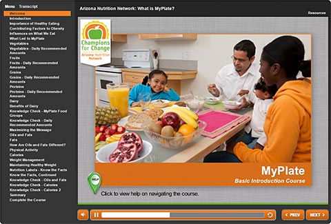 MyPlate: Basic Introduction Course